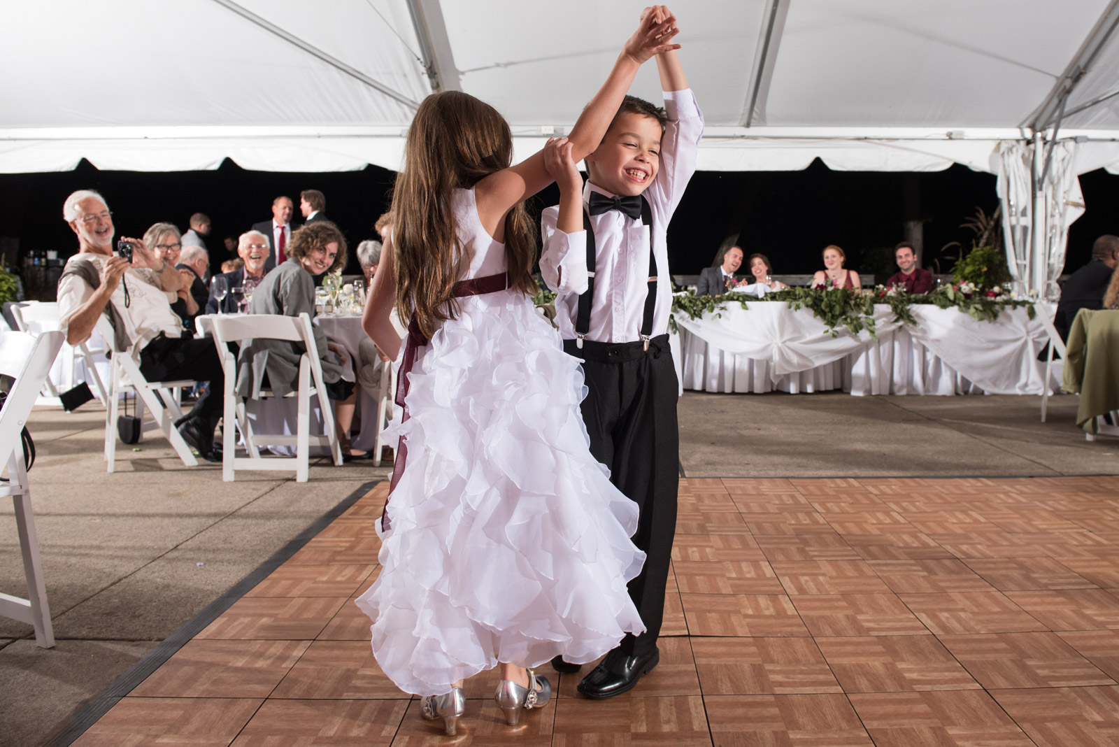 Flower Girl Ring Bearer Dancing Wedding