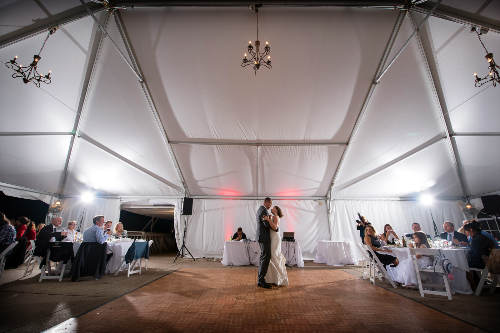 First Dance Tent Wedding Eagle Ridge Resort