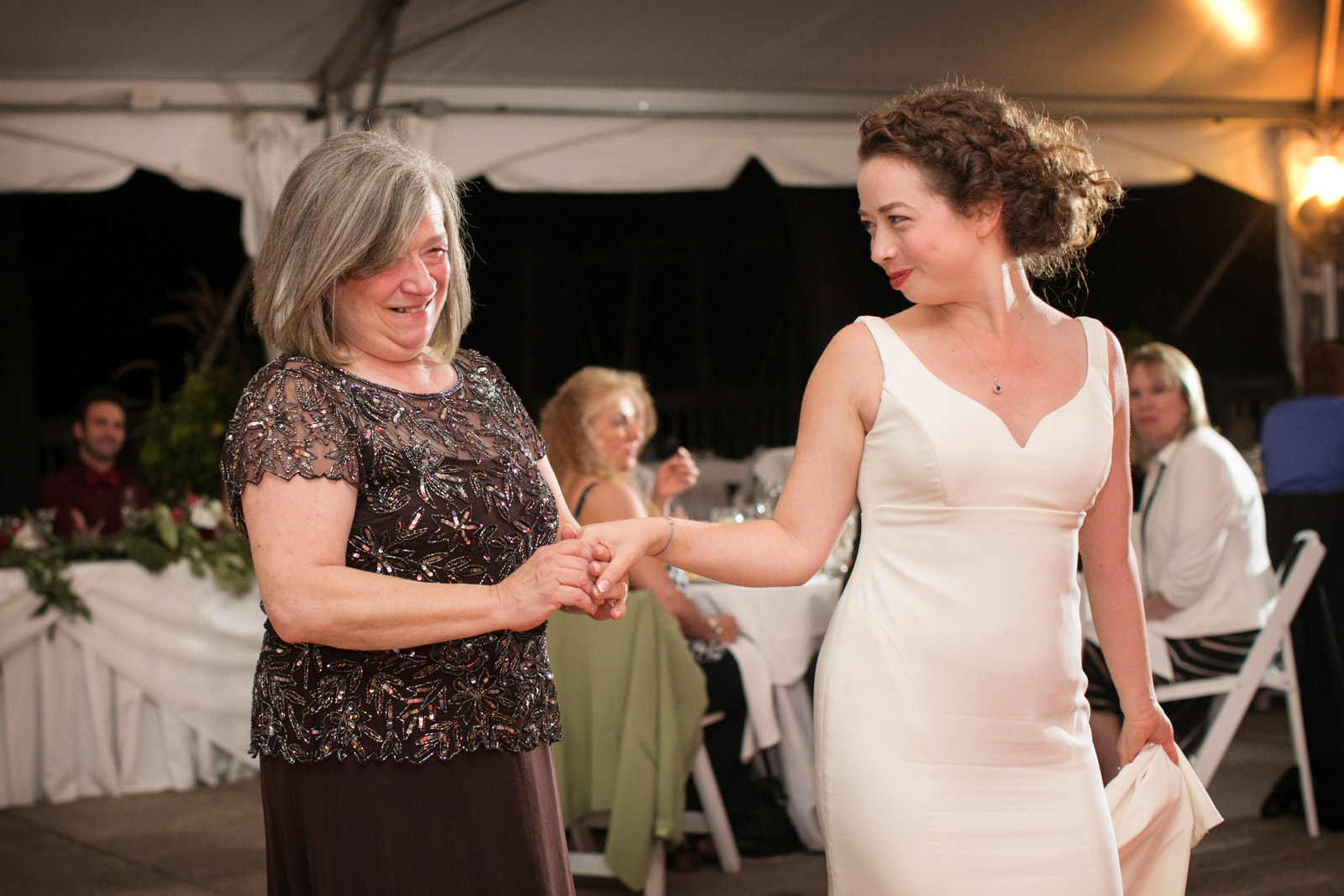 Mother Daughter Bride Dancing