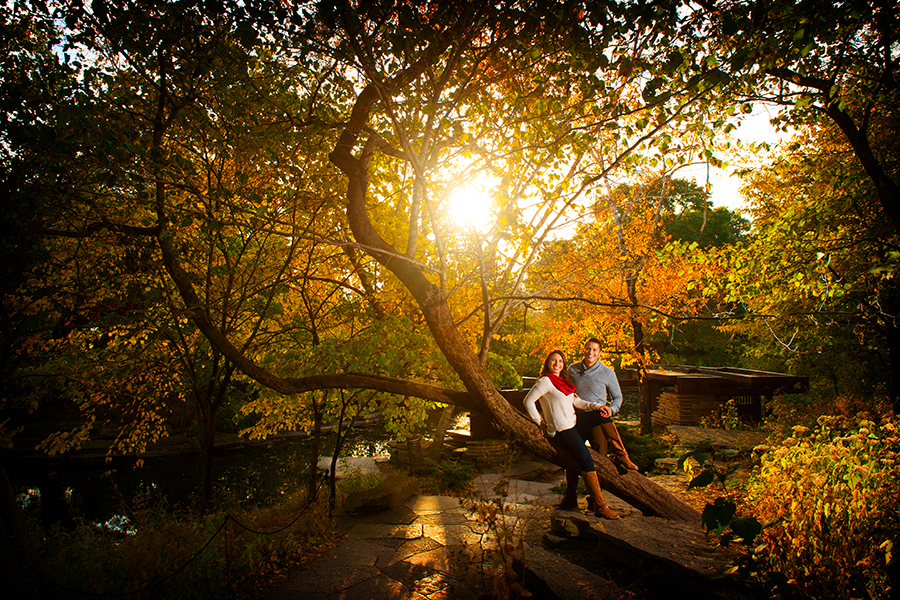 Alfred Caldwell Lily Pool Engagement Session Location in Chicago