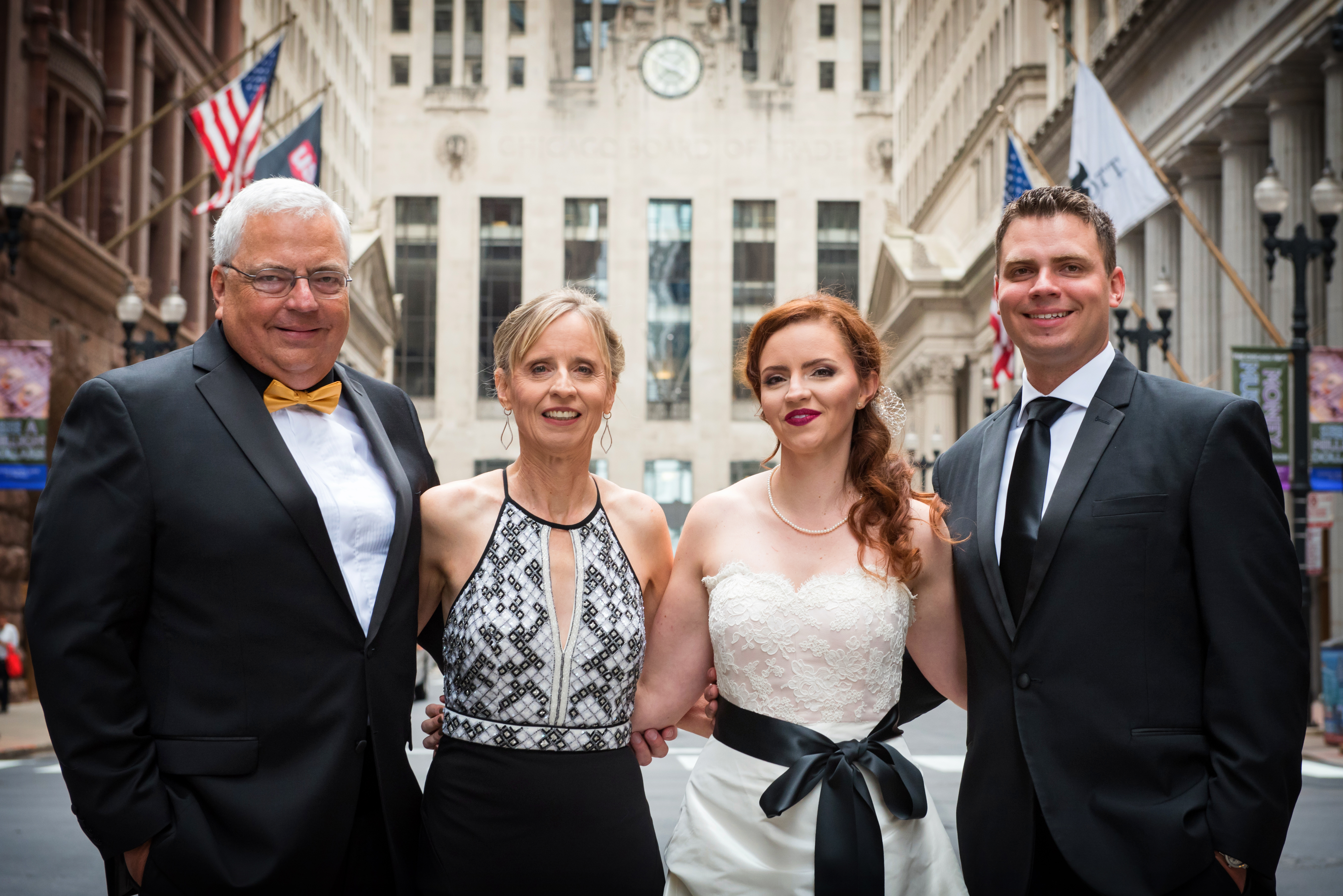 Brides Family at Board of Trade on LaSalle Street Chicago