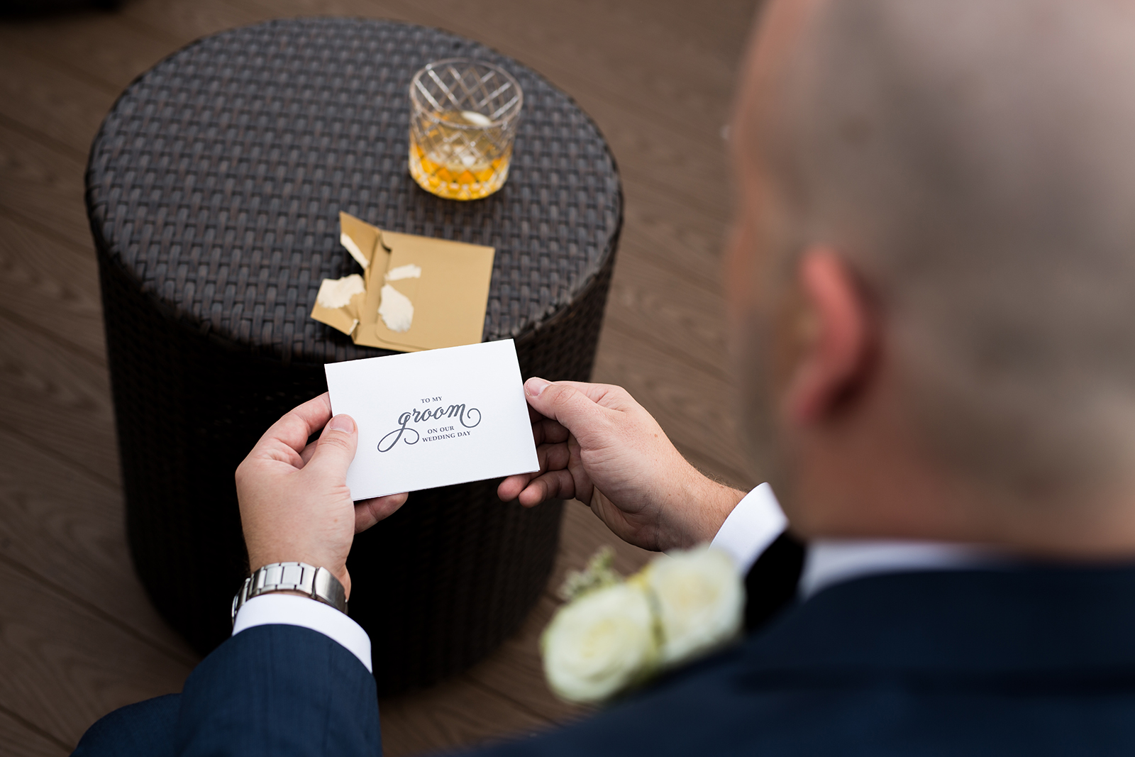 Groom Opening Card from Bride