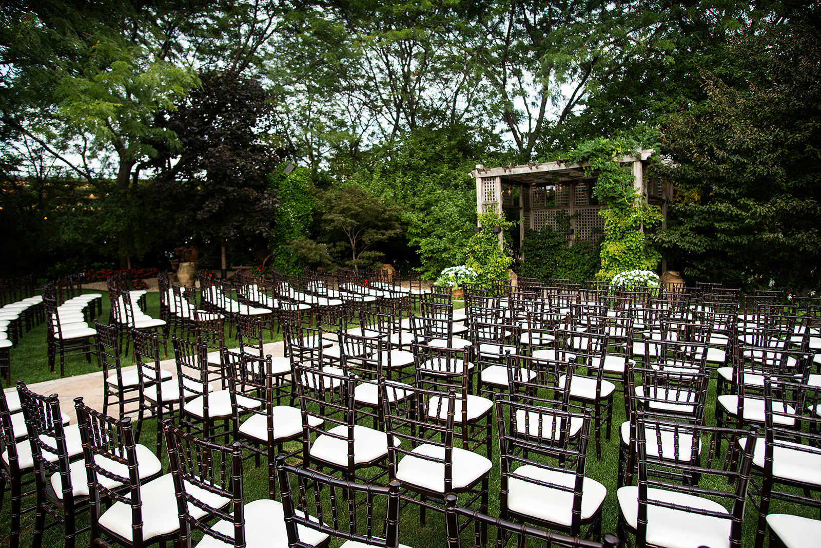Outdoor Wedding Ceremony Galleria Marchetti Chicago