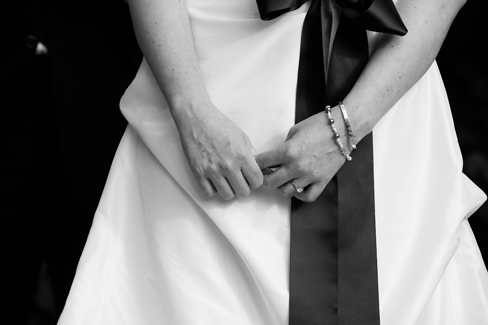 Artistic Black and White Bride Hands