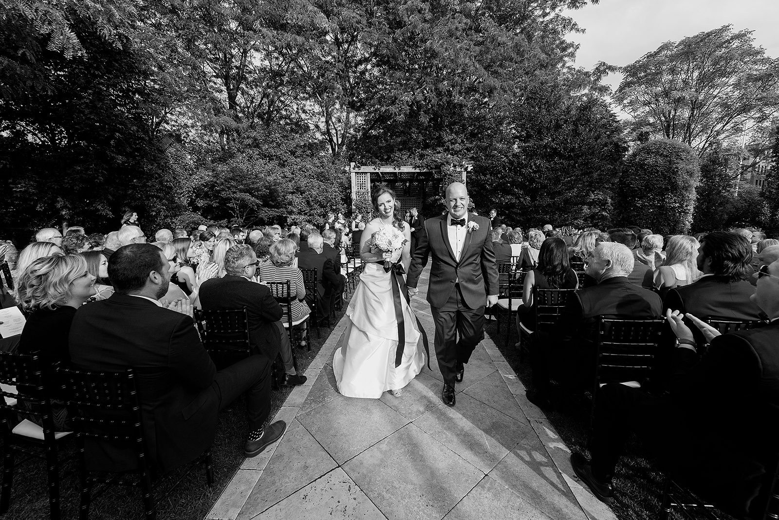 Black and White Bride Groom Recessional