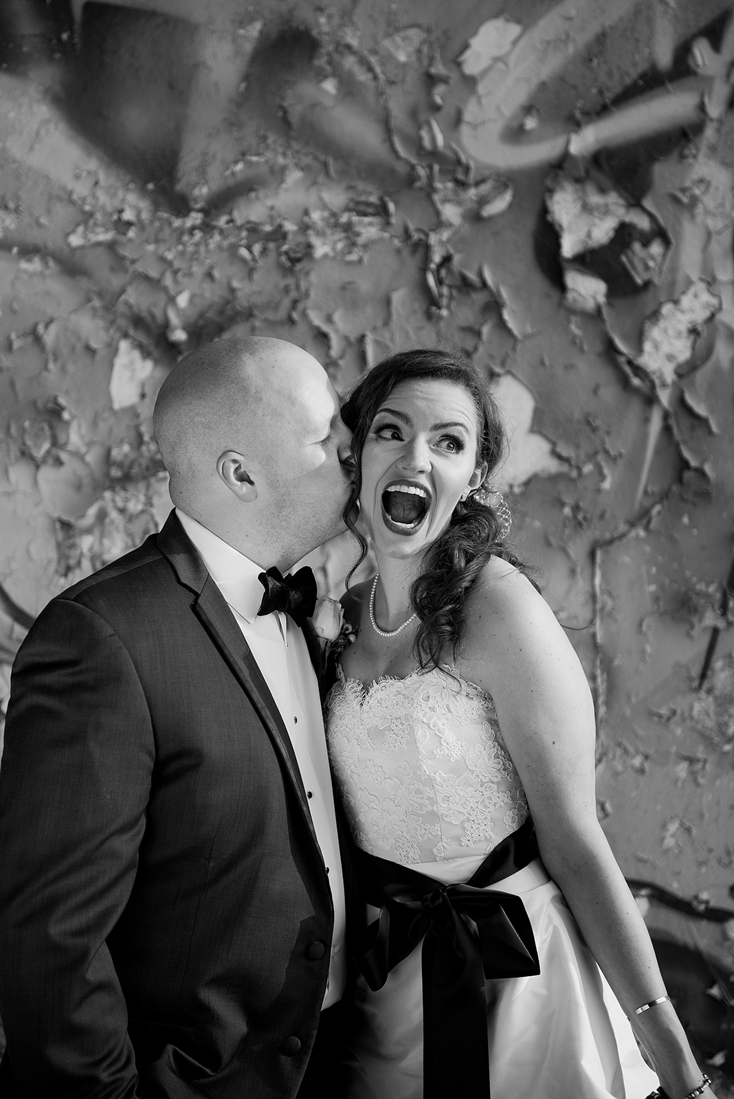 Funny Bride and Groom Portrait