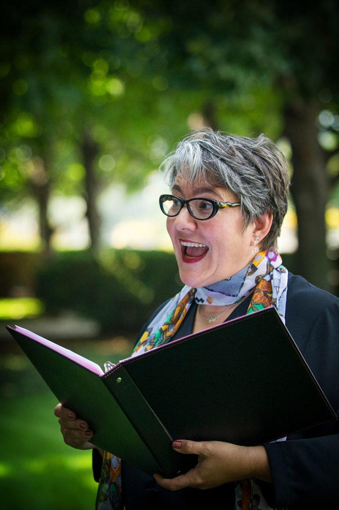 Elopement officiant Chicago Anita Vaughan