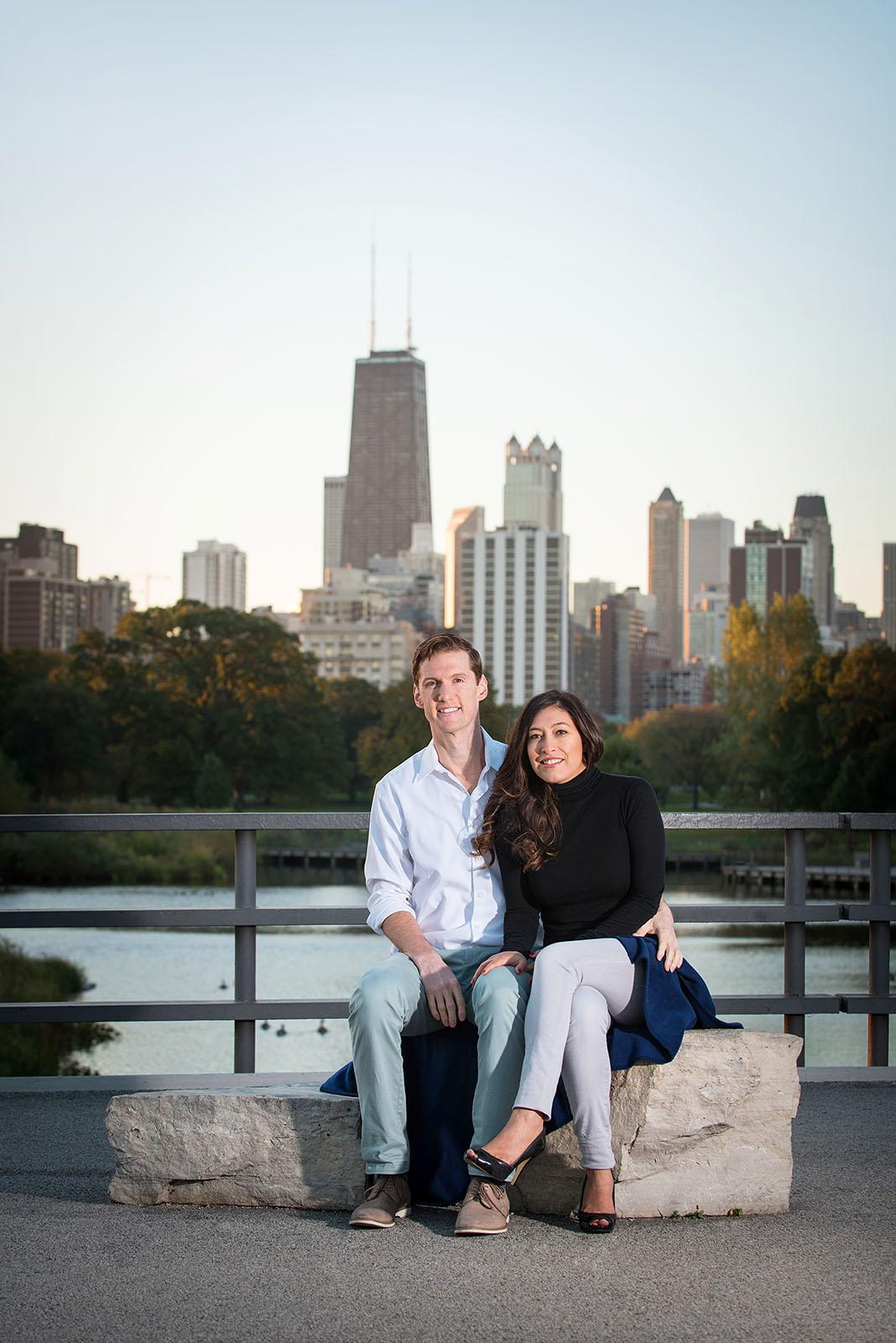 Chicago Lincoln Park Sunrise Engagement Session