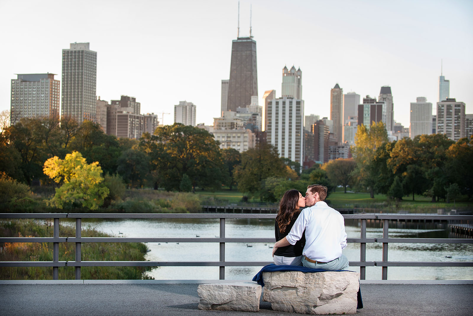Engagement Session Chicago Skyline Lincoln Park