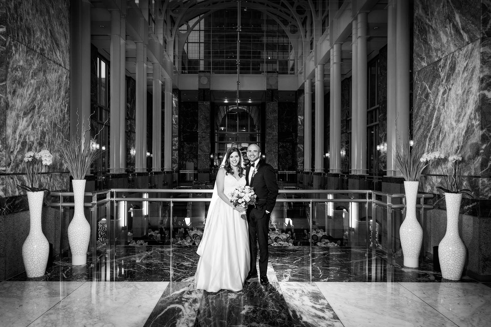 Bride Groom Pazzo's 311 Black White Photo