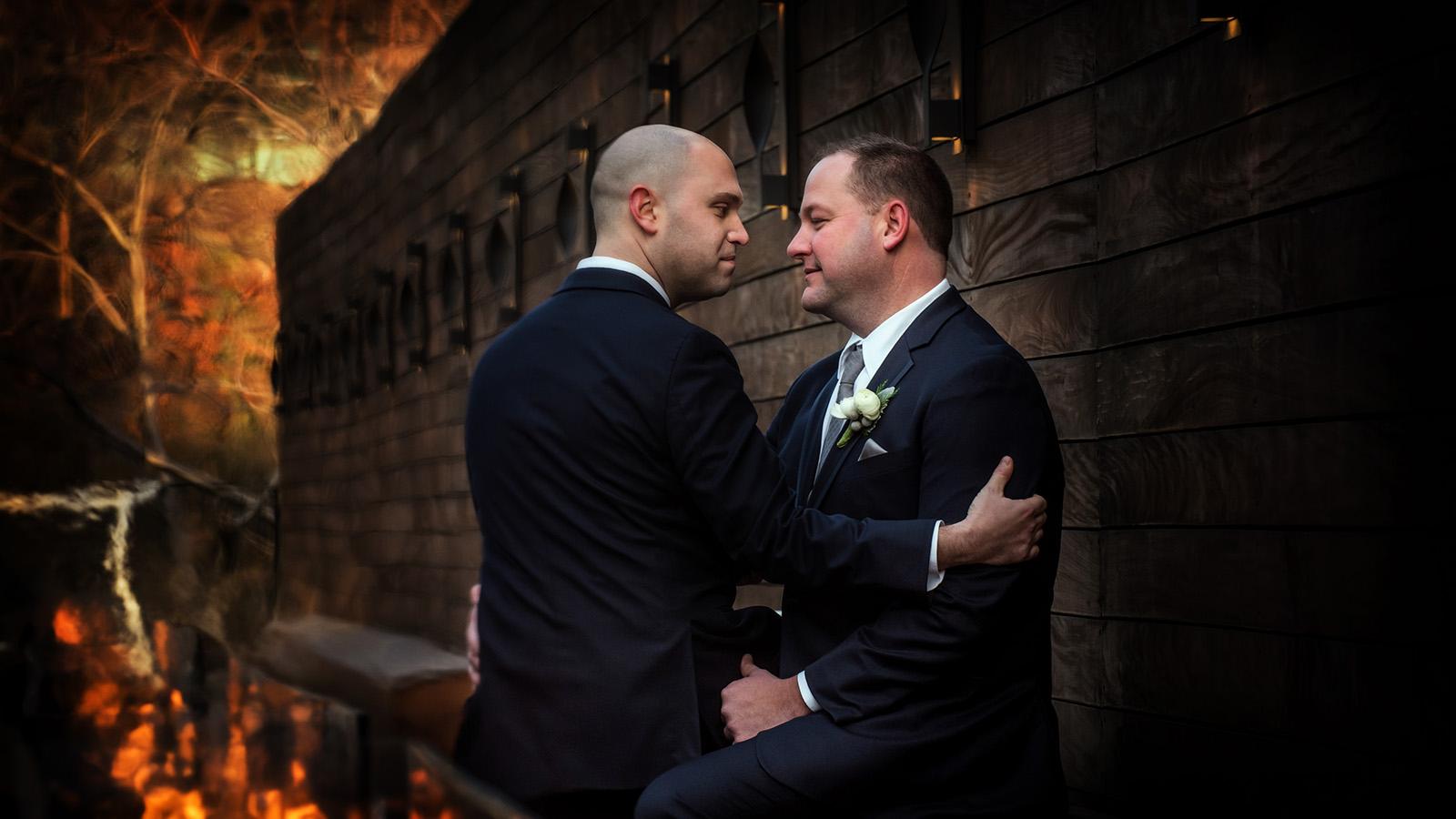 Gay Wedding Grooms Wedding Portrait