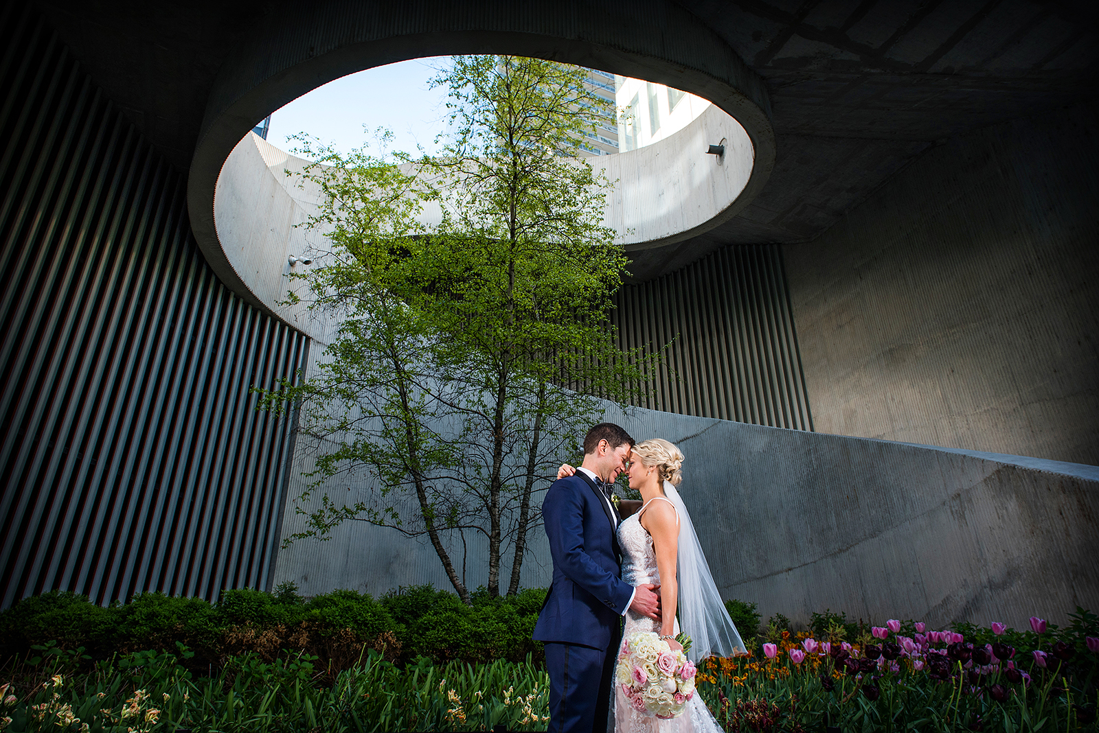 Bride Groom circle architecture