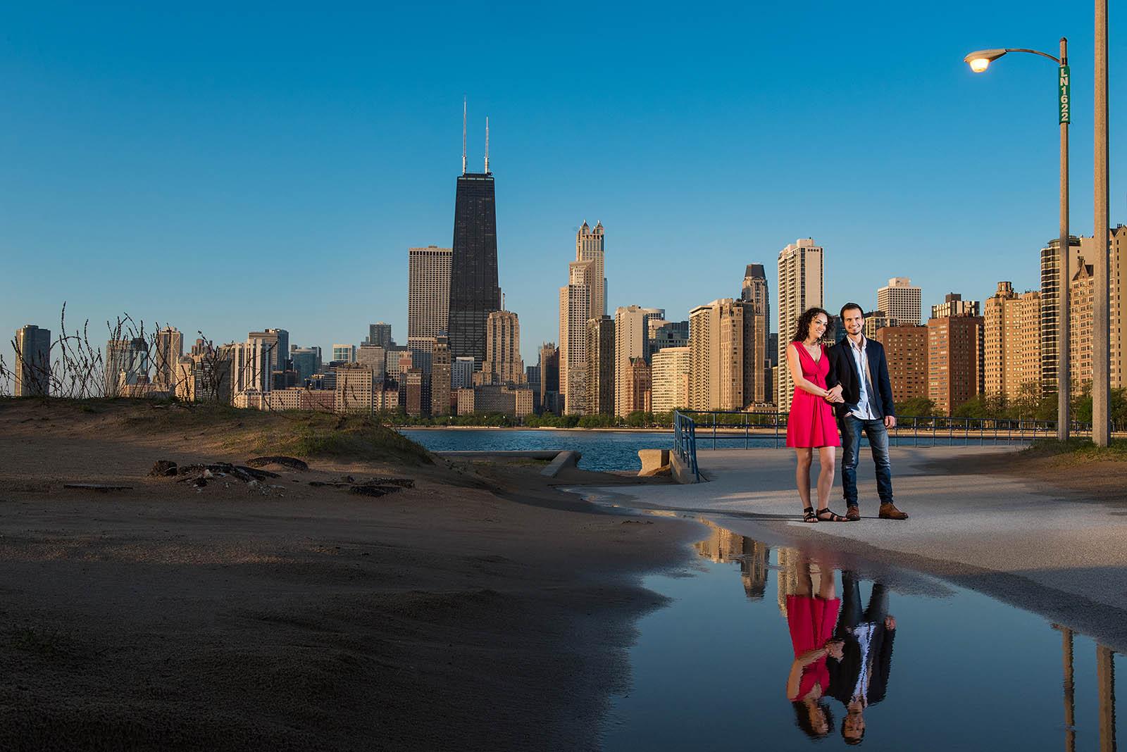 Lake Michigan Chicago engagement session reflection