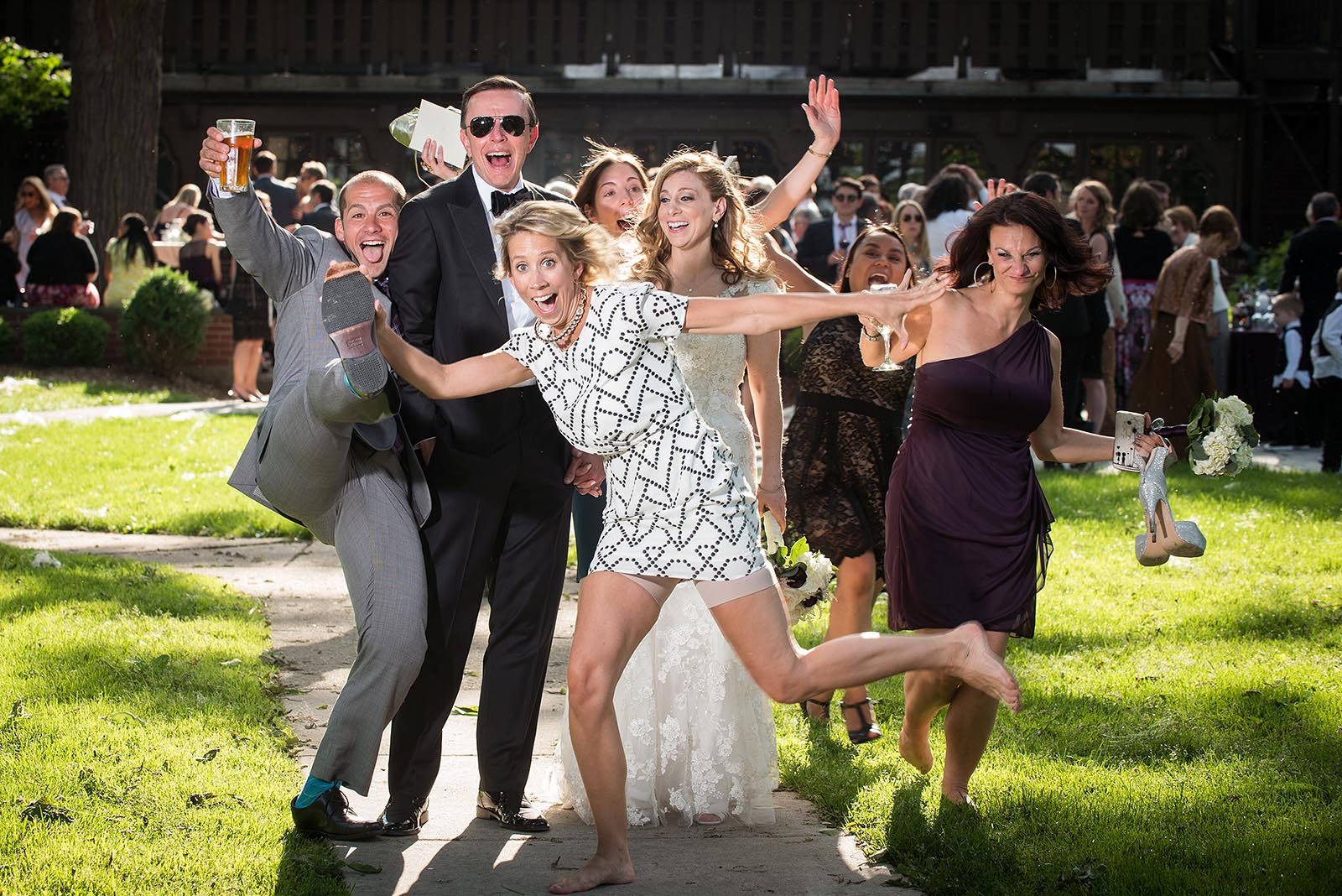 Bride Groom Wedding Photobomb