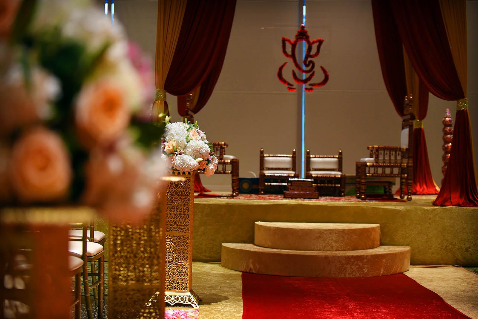 Hindu Indian Wedding Ceremony Aisle Details