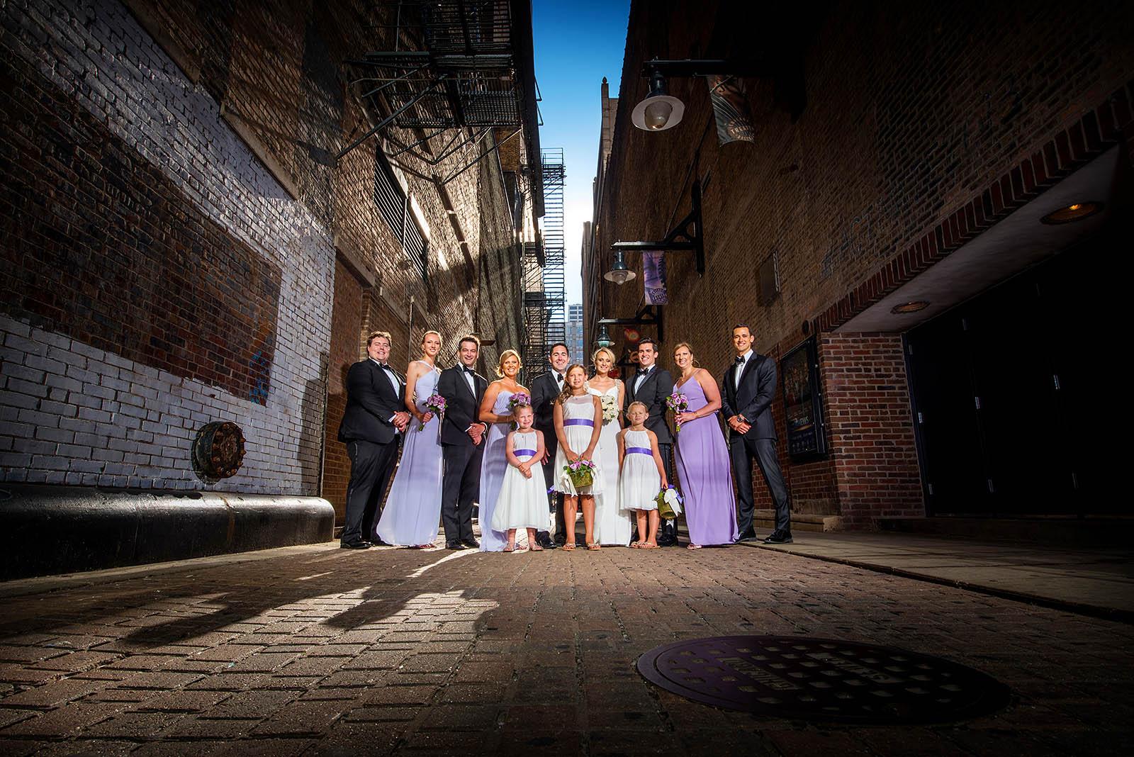 Bridal Party Wedding Photo Alley Chicago