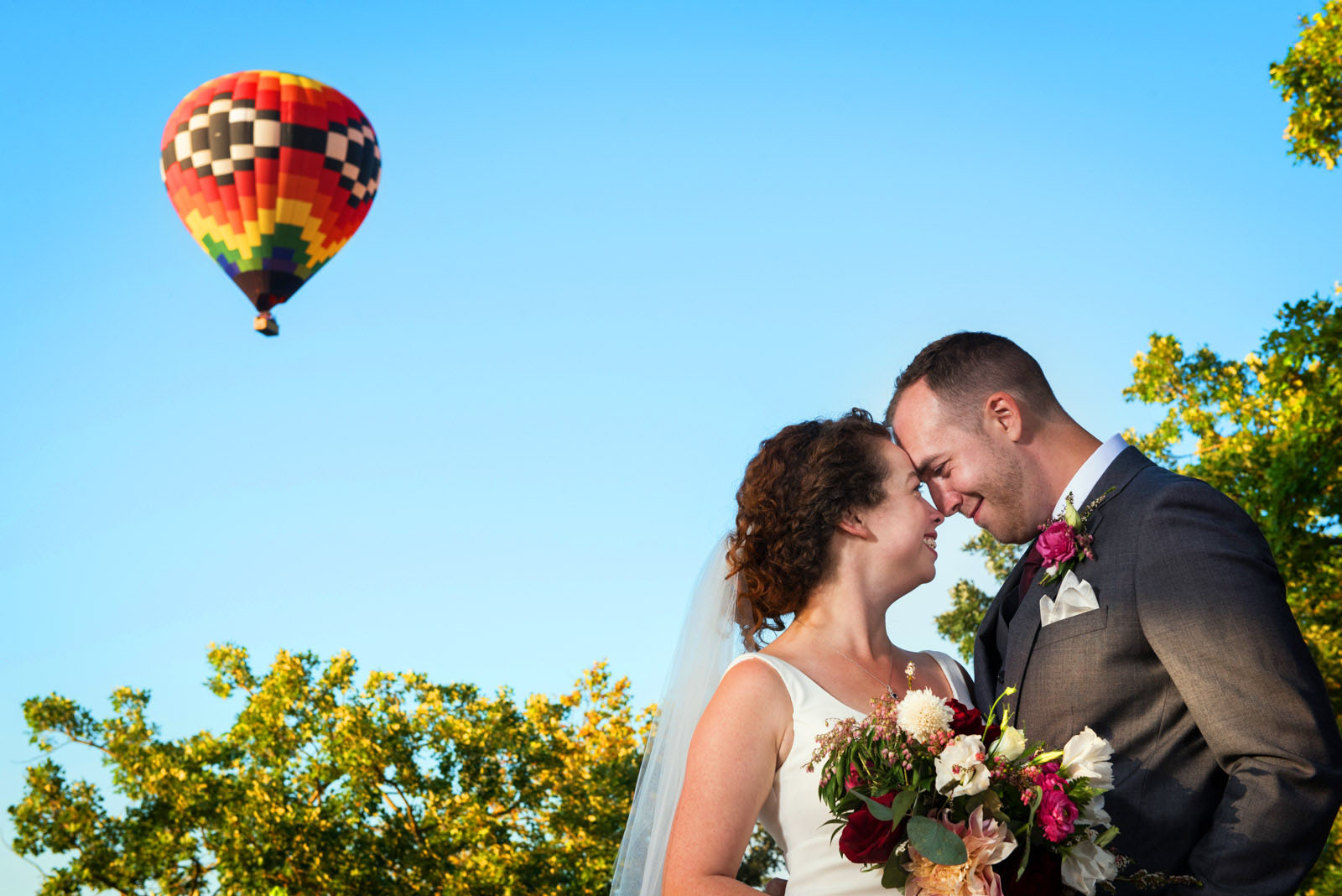 Bride Groom Hot Air Ballooon