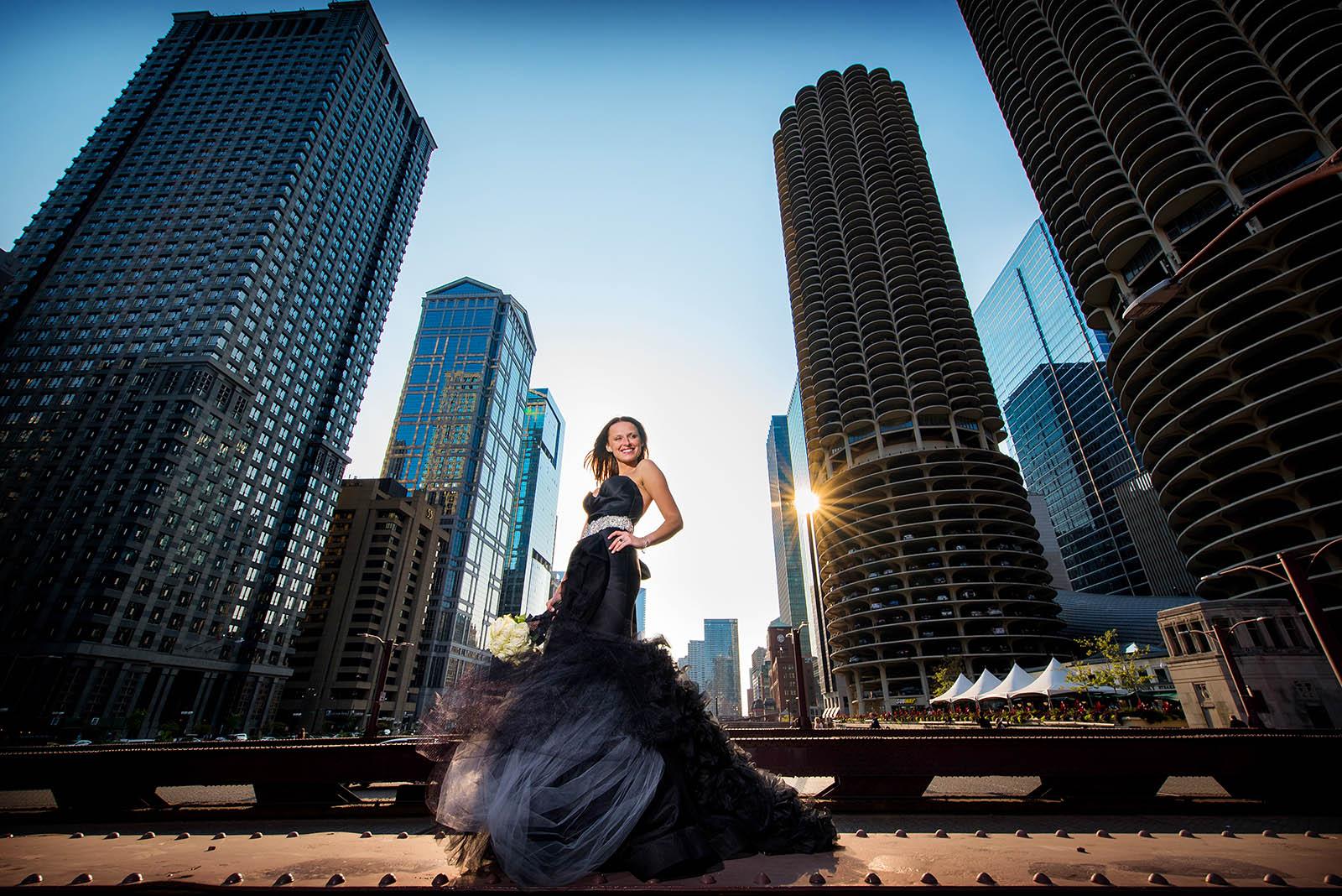 Bride Bridge Black Wedding Dress