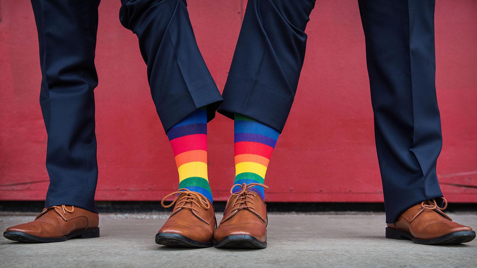Rainbow Socks Gay Marriage