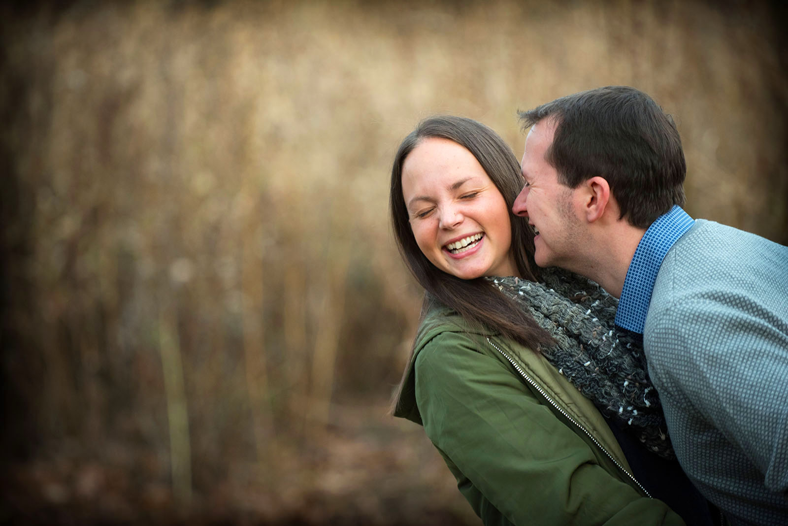 Engagement Session Laughing