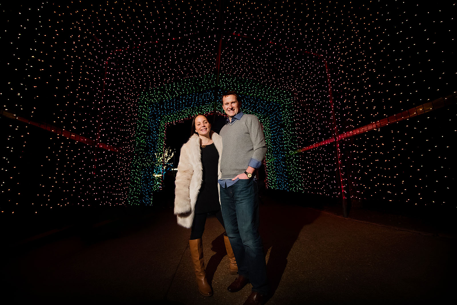 Zoo Lights Engagement Session Chicago