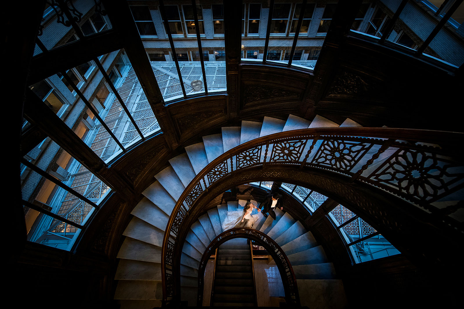 Wedding Photography Rookery Chicago Staircase