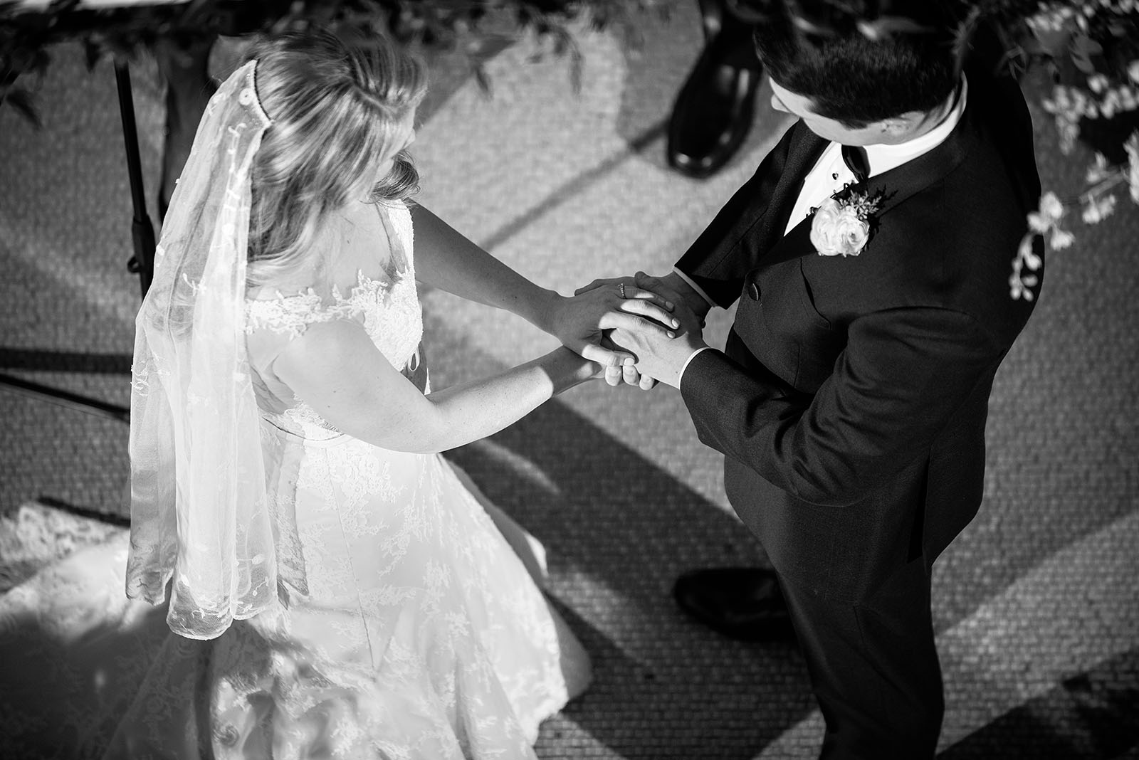 Hands Black White Wedding