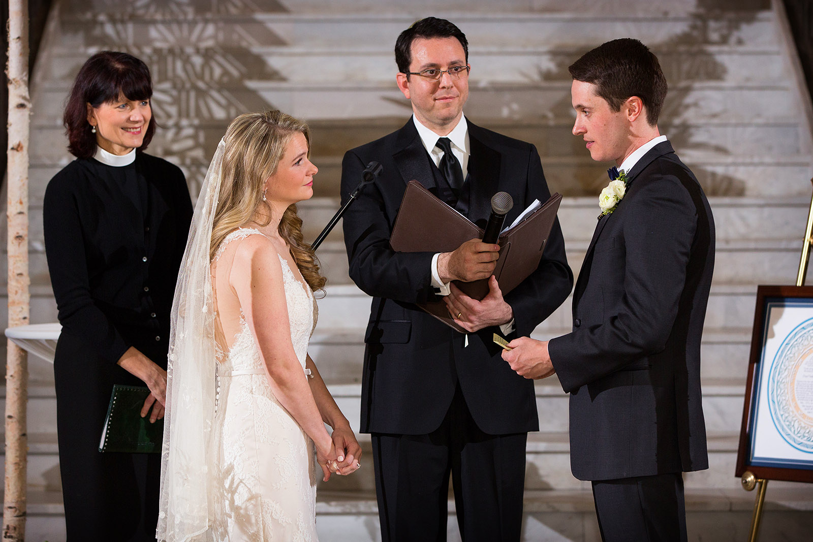 Jewish Wedding Ceremony Vows Chicago Rookery