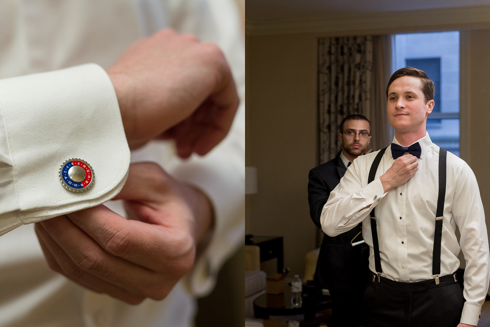 Cuff links Tie Groom Wedding