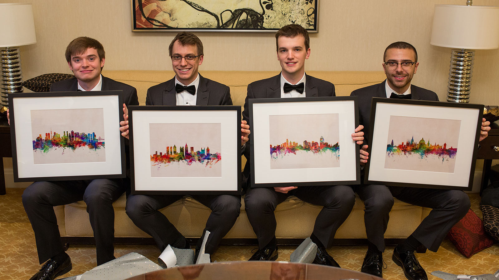 Framed Art Groomsmen Present