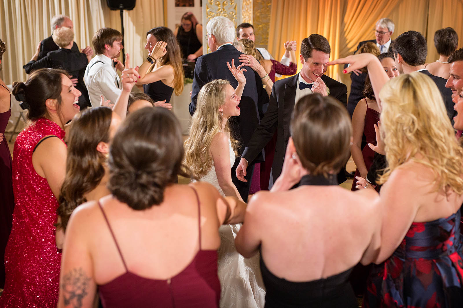 Dance Floor Going Wild Wedding Reception