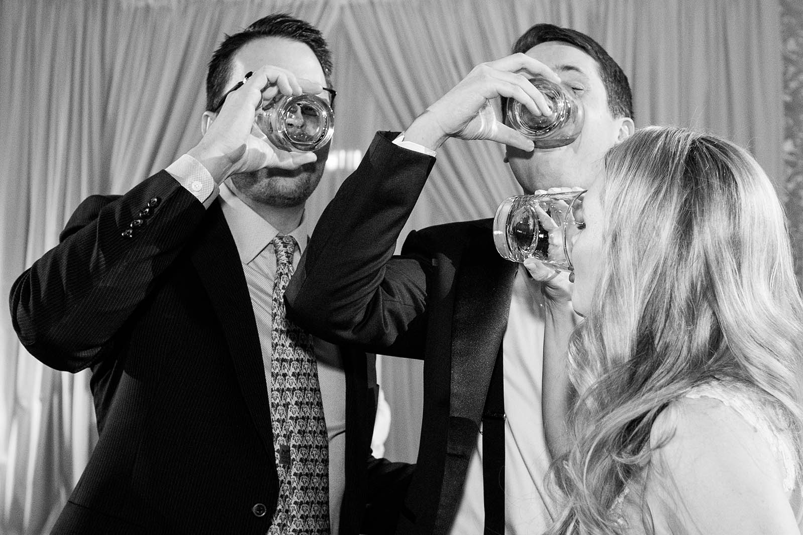 Newlyweds Take Shots