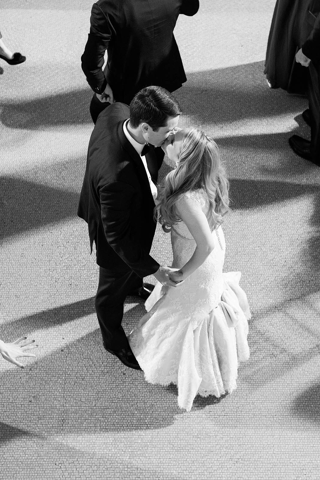 Wedding Kiss on Dance Floor