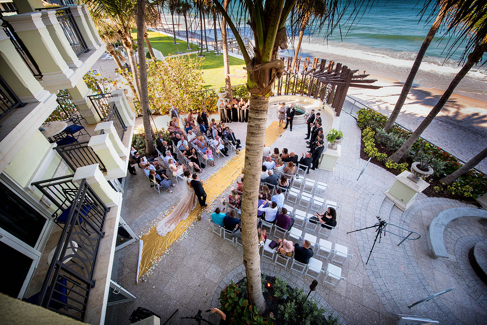 outdoor Ceremony at Kimpton Vero beach Spa Florida