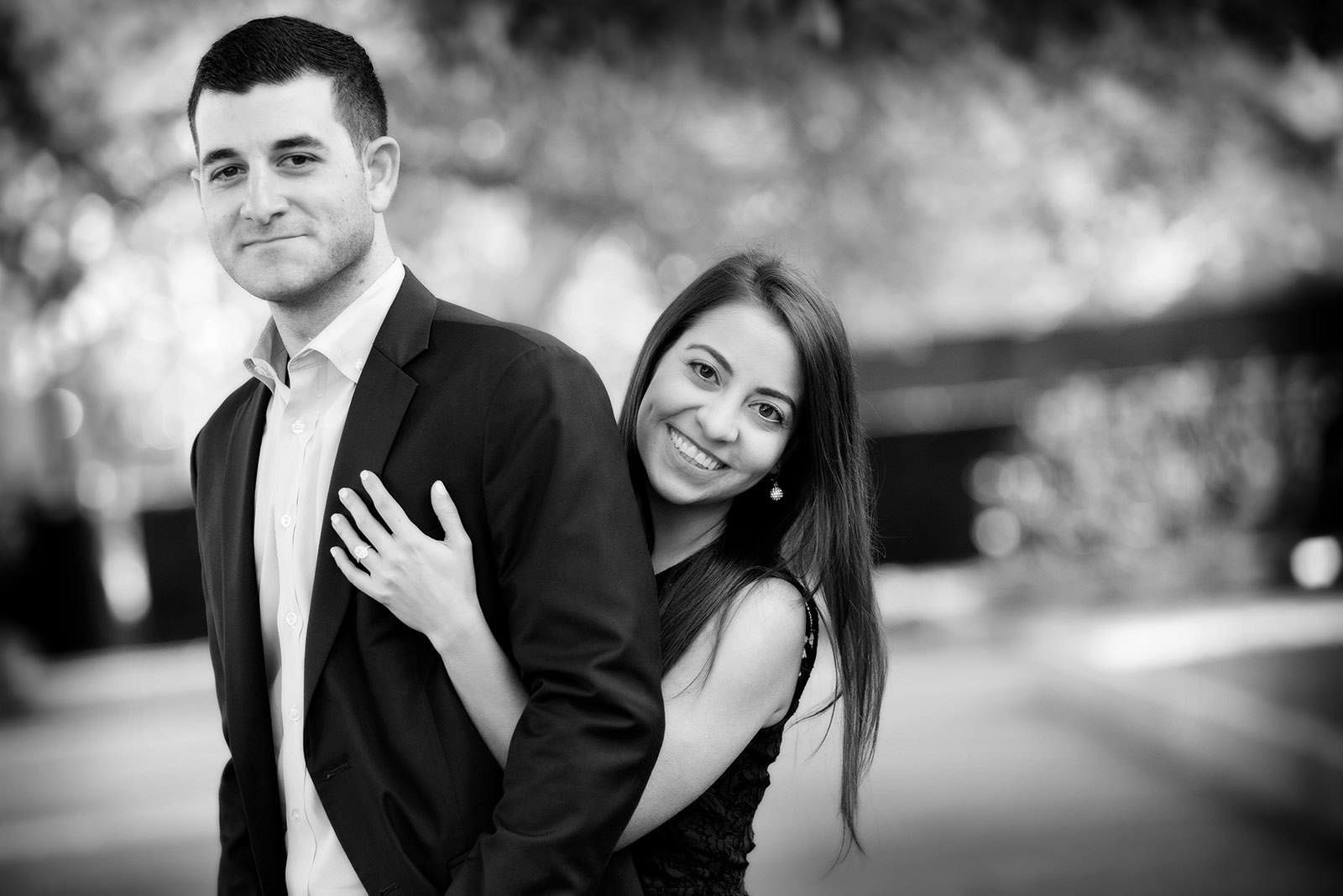 Black and White Engagement Session Picture