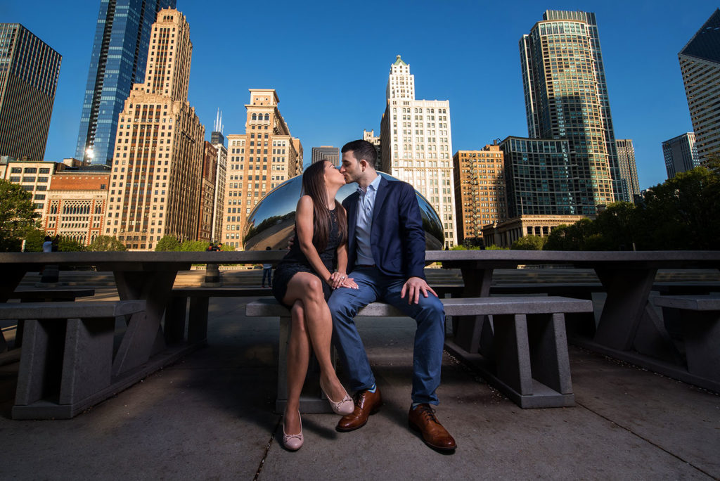 millennium park engagement picture