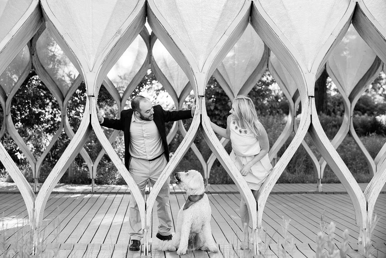 Lincoln Park Zoo South Pond Honeycomb Engagement Session Pup