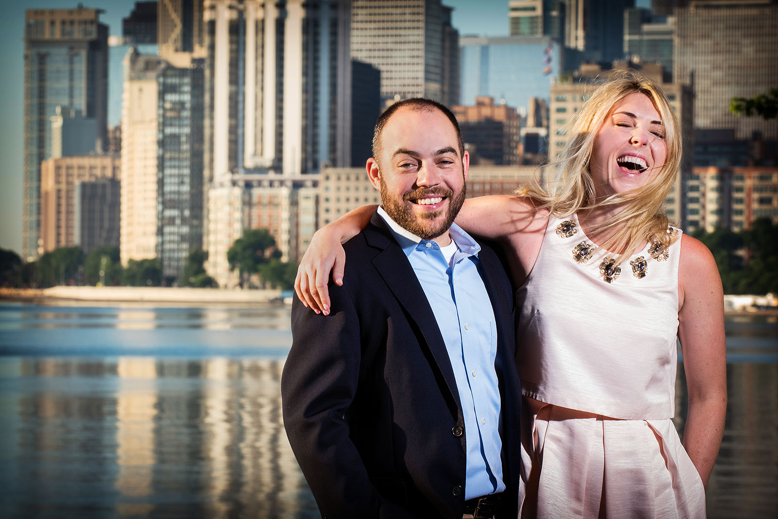 Chicago Skyline Engagement Picture
