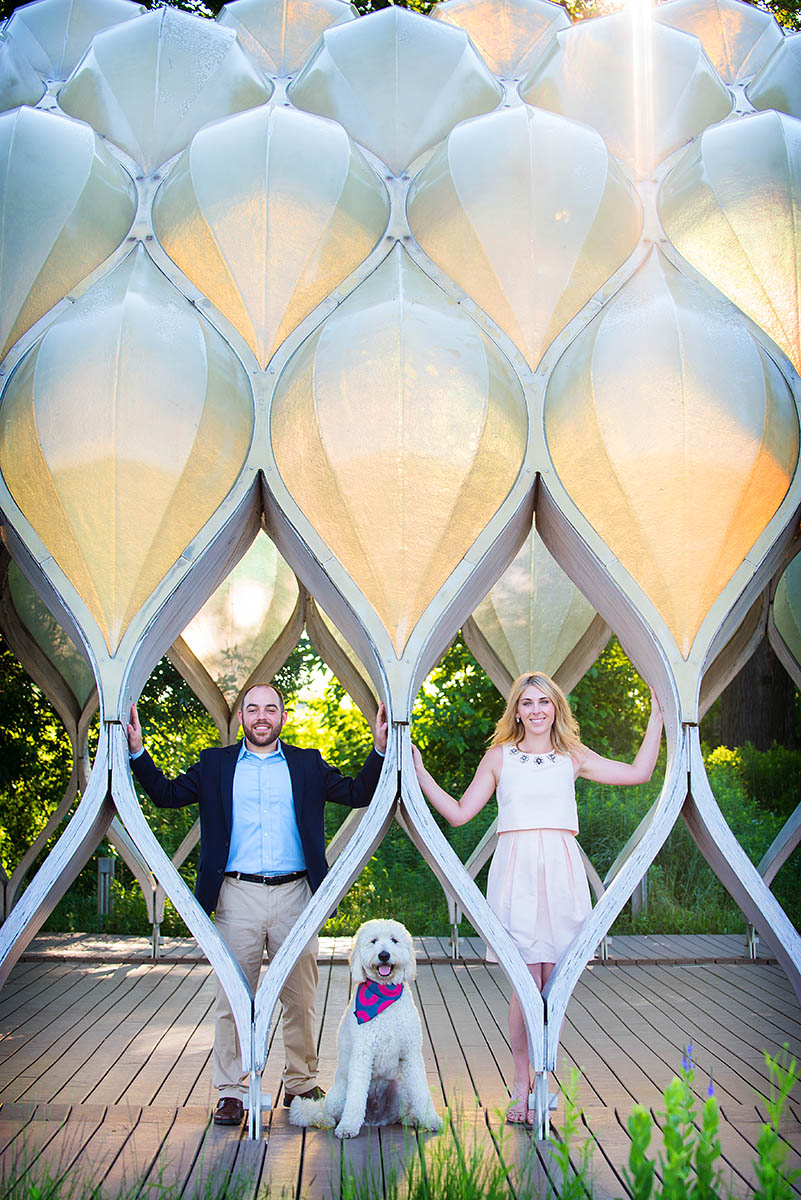Lincoln Park Zoo South Pond Honeycomb Engagement Pictures