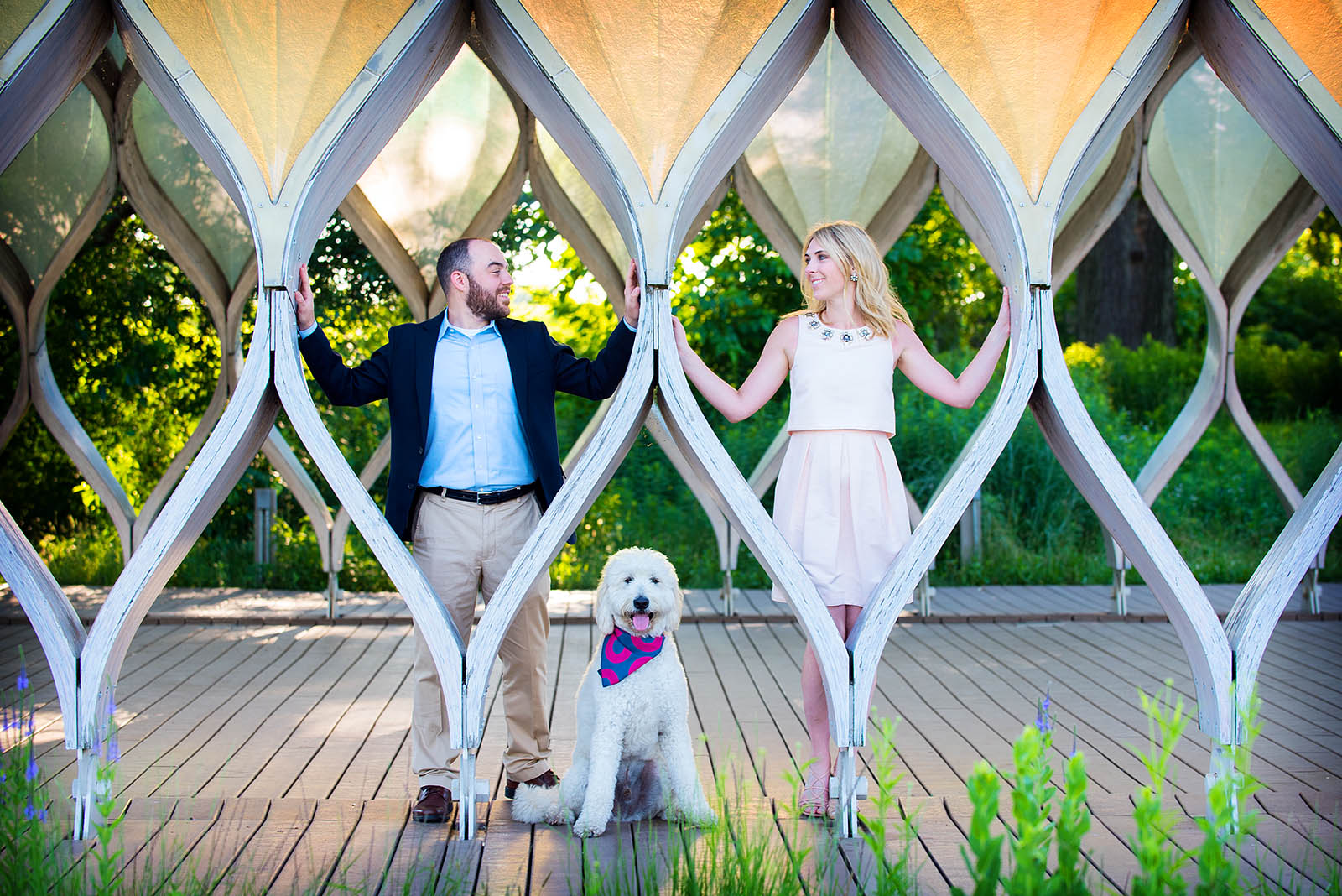 Lincoln Park Zoo South Pond Honeycomb Engagement Photo Dog