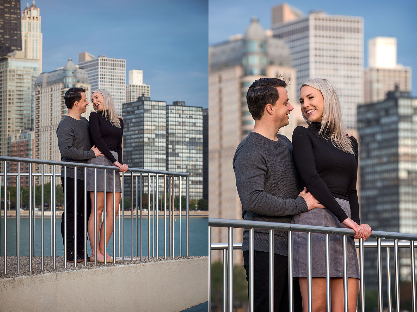 Spring Engagement Session photos at Milton Olive Park in Chicago