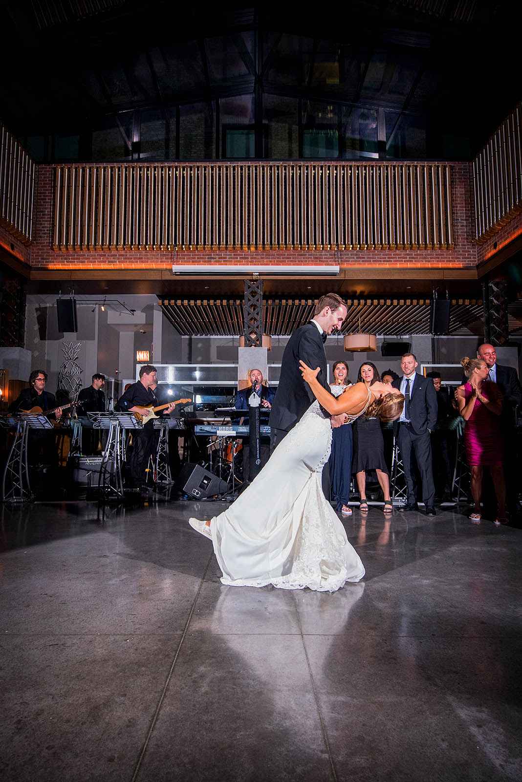 Bride Groom First Dance Retractable Roof Kimpton Gray Chicago