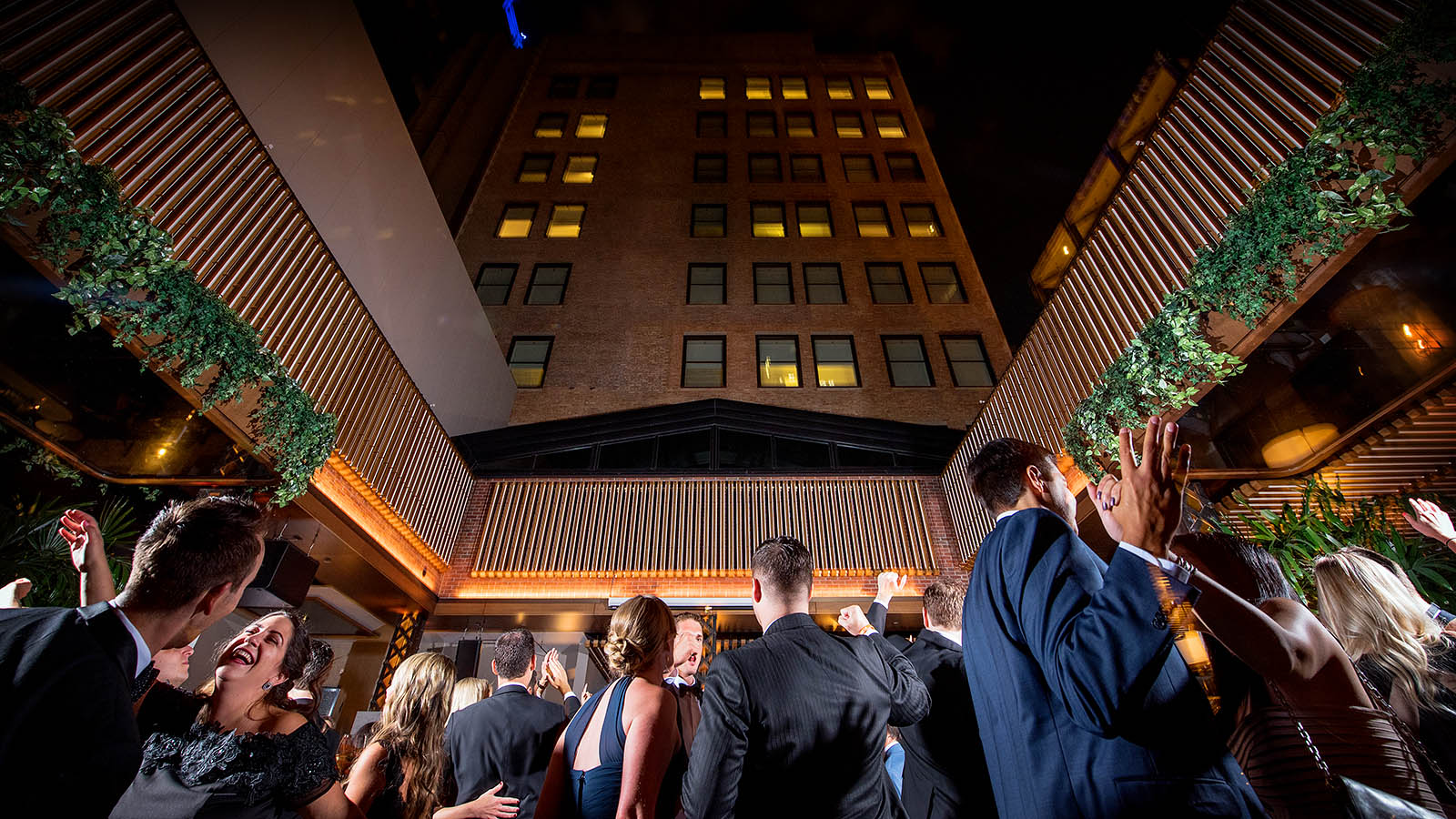 Retractable Roof Wedding Reception Kimpton Gray Chicago