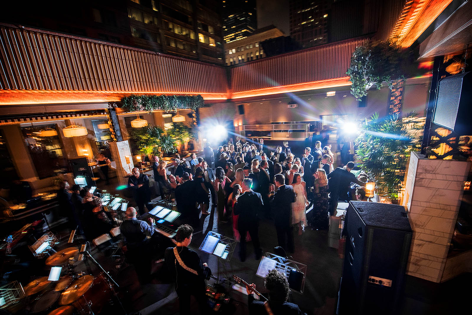 Retractable Roof Wedding Dancing Kimpton Gray Chicago