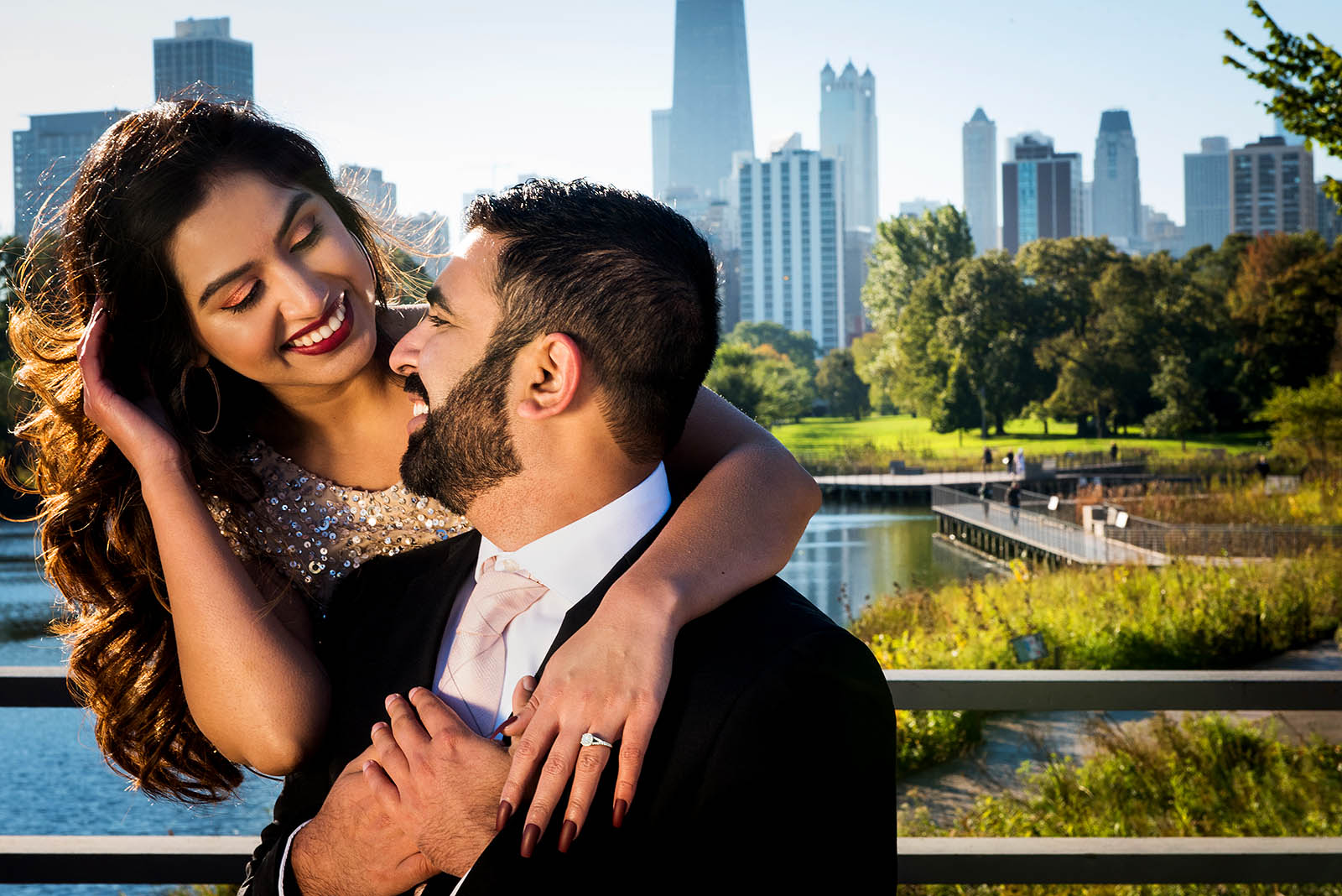 Chicago Skyline Engagement Session Chicago Lincoln Park Zoo