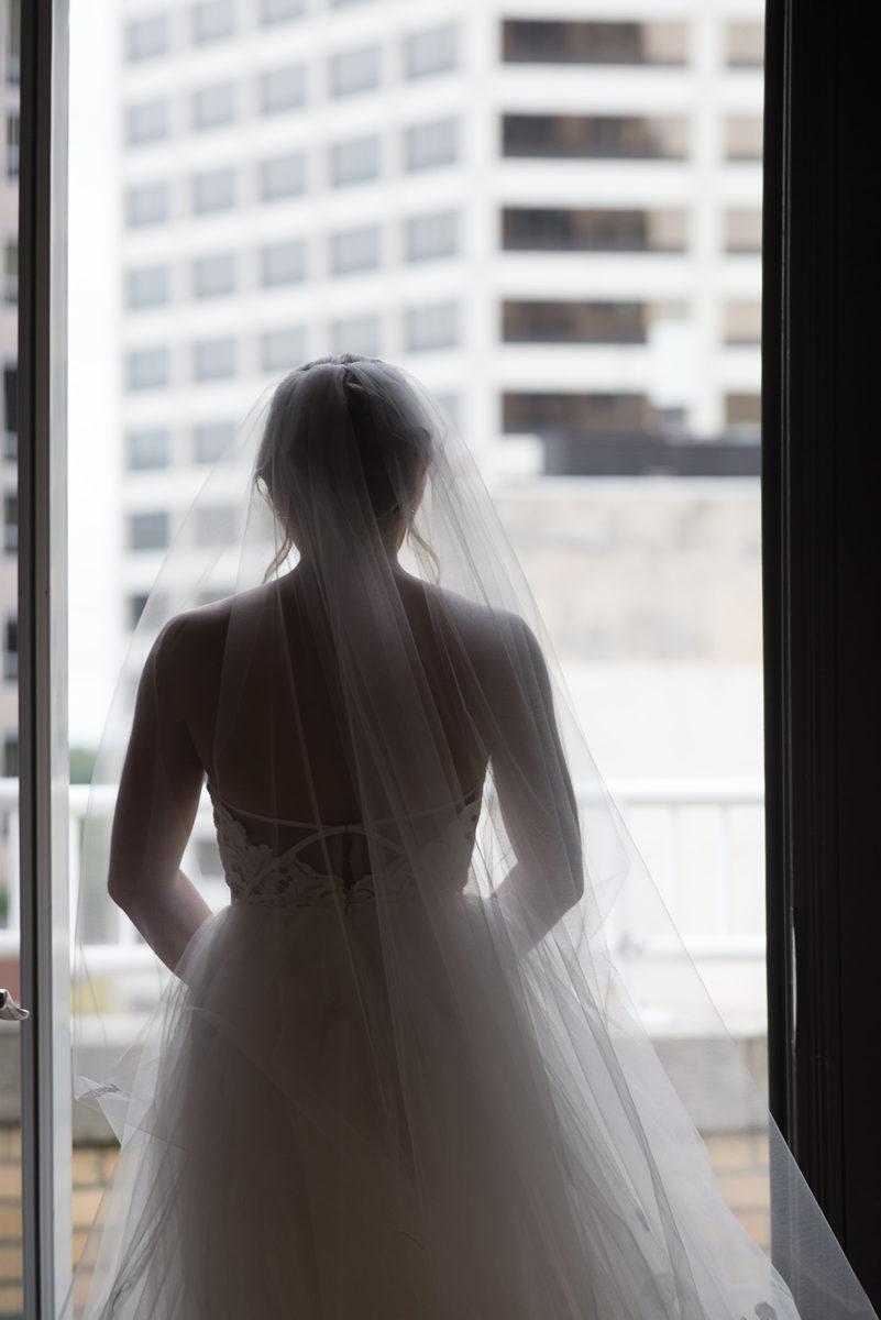 Brides awaits First Look