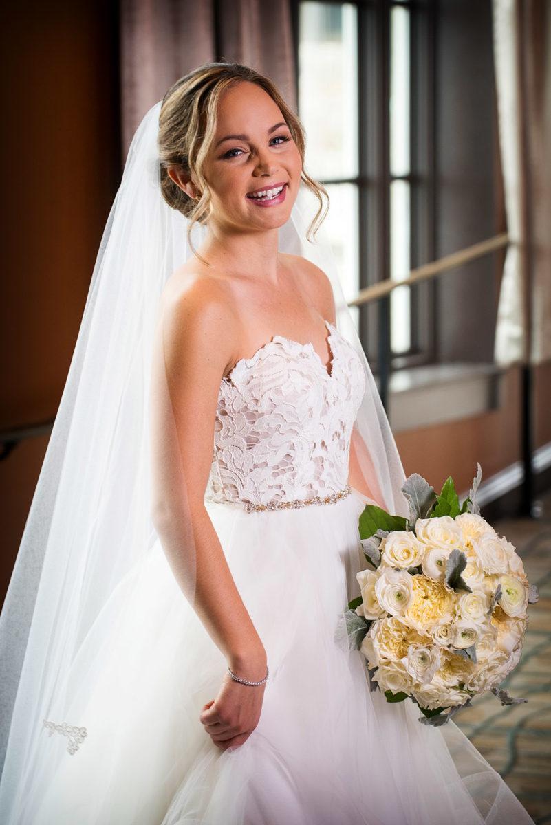 bride portrait hotel orrington Evanston Illinois