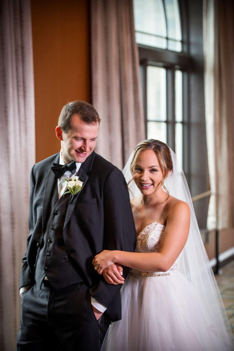 bride groom picture hotel orrington Evanston Illinois