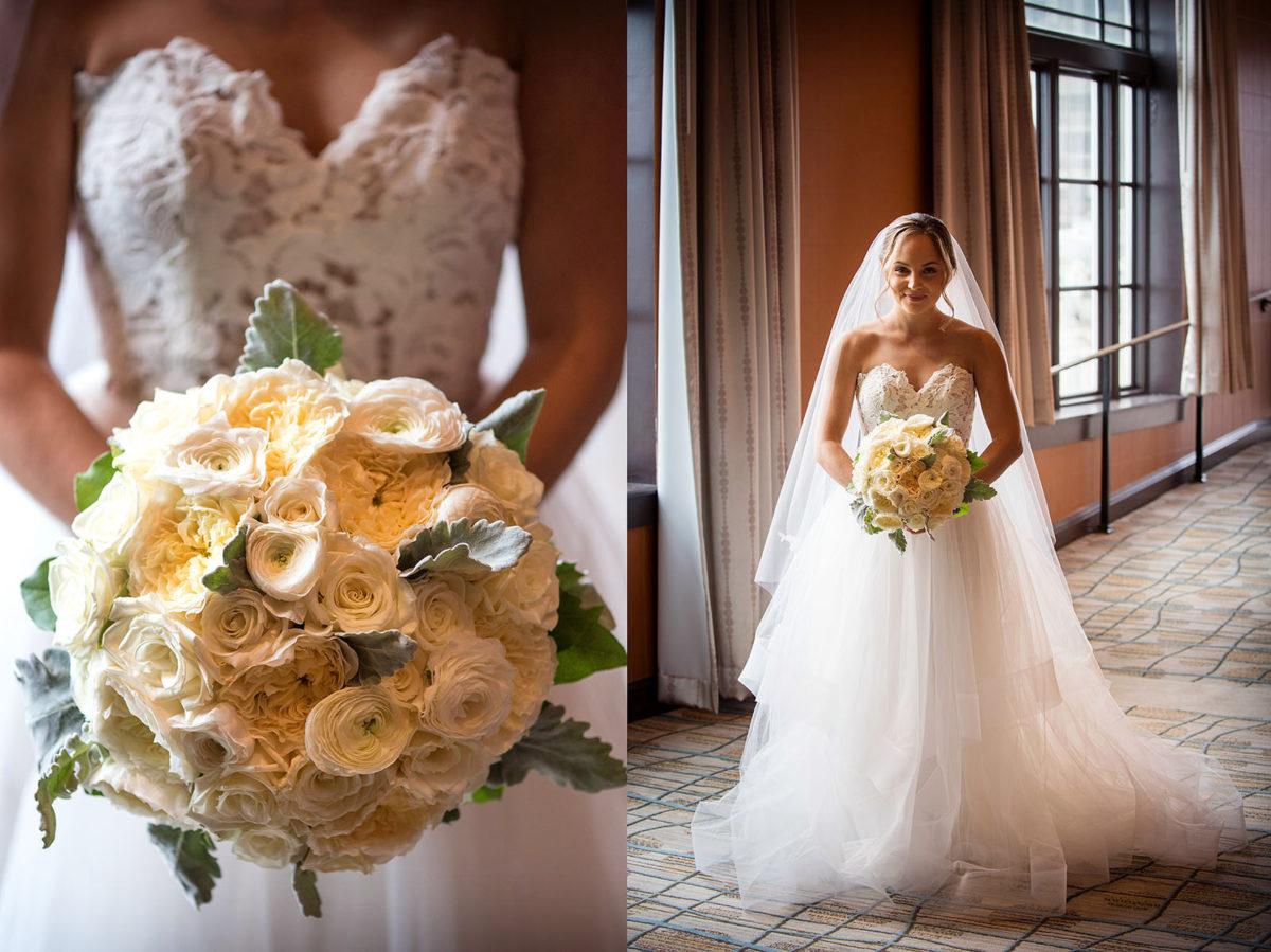 wedding pictures hotel orrington Evanston Illinois