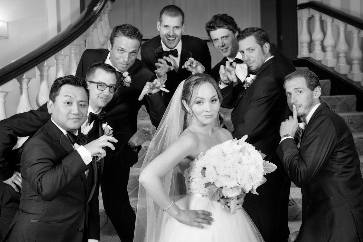 Bride groomsmen hotel orrington Evanston
